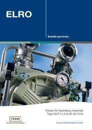 Pumps for hazardous materials Type GUP 3-1,5 & GP 20/10 Ex ...