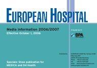 Media information 2006/2007 - European-Hospital