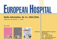 Media information, No 14, 2003/2004 - European-Hospital