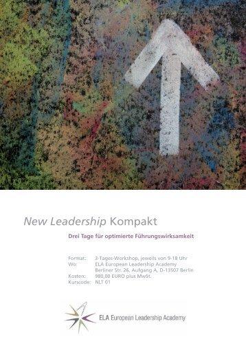 New Leadership Kompakt - European Leadership Academy