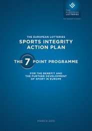 SPORTS INTEGRITY ACTION PLAN - European Lotteries