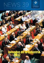 Jornadas de la Industria 2012 - European Lotteries