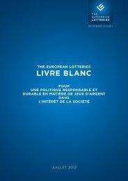 Livre bLanc - European Lotteries