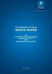 WHITE PAPER - European Lotteries