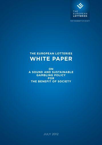 WHITE PAPER - European Lotteries