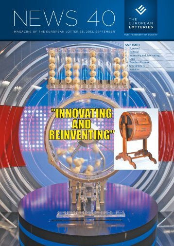 """""""INNOVATING AND REINVENTING"""" - European Lotteries"""