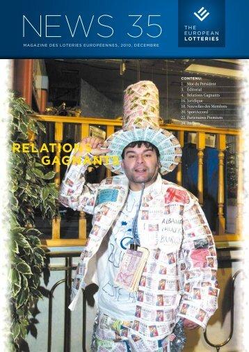 relations gagnants - European Lotteries