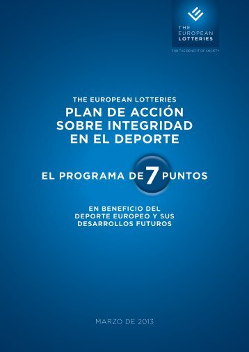 the european lotteries plan de acción sobre integridad en el deporte ...