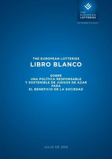 THE EUROPEAN LOTTERIES LIBRO BLANCO SOBRE UNA ...