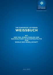 WEISSBUCH - European Lotteries