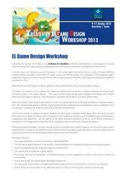 CREATIVITY & GAME DESIGN WORKSHOP 2013 EL Game Design ...