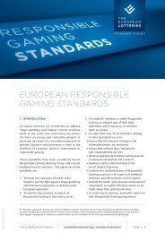 EuropEan rEsponsiblE GaminG standards - European Lotteries