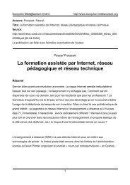 Par Pascal Froissart, - European MediaCulture