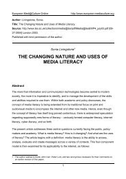 the changing nature and uses of media literacy - European ...