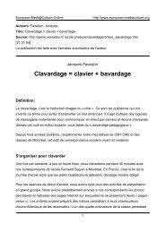 Jacques Faverjon - European MediaCulture