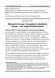 Netzwerk Europa. Europäisch orientierte Kinder - European ...