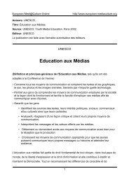 Education aux Médias - European MediaCulture