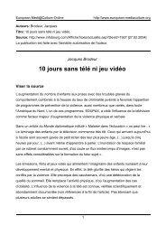 Jacques Brodeur - European MediaCulture