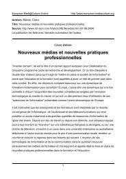 Claire Bélisle - European MediaCulture