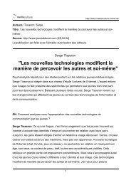 Serge Tisseron - European MediaCulture