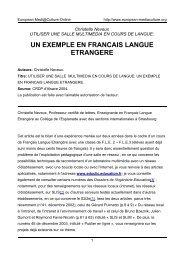 un exemple en francais langue etrangere - European MediaCulture