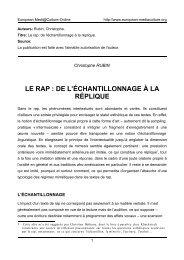 L'échantillonnage linguistique - European MediaCulture