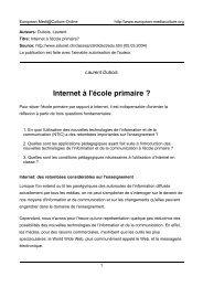 Laurent Dubois - European MediaCulture