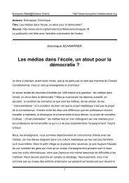 Dominique SCHNAPPER - European MediaCulture
