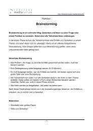 Brainstorming - European MediaCulture