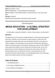 media education - European MediaCulture