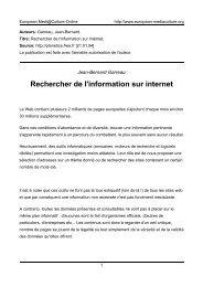 Rechercher de l'information sur internet - European MediaCulture ...