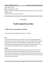 Youth research by video - European MediaCulture