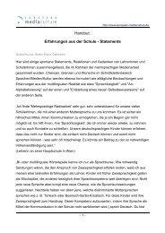 Erfahrungen aus der Schule - Statements - European MediaCulture