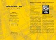 PROGRAMM LINZ - European MediaCulture