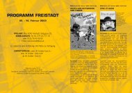 PROGRAMM FREISTADT - European MediaCulture