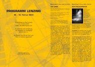PROGRAMM LENZING - European MediaCulture