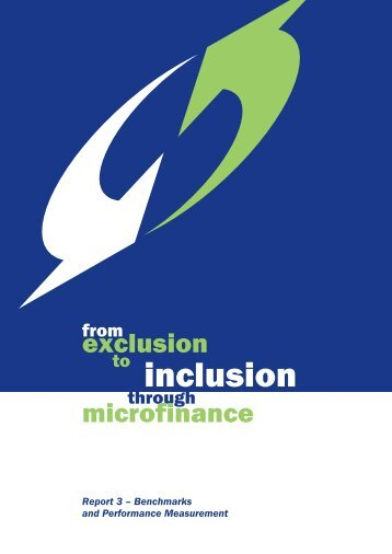 From exclusion to inclusion through microfinance : REPORT 3