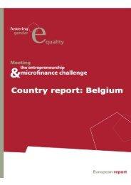 Rapport National Belgique - European-microfinance.org