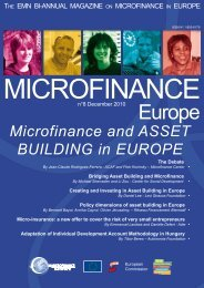 December 2010 - Microfinance and Asset Building in Europe