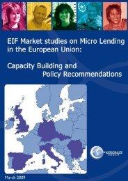 EIF Market Studies on Micro Lending in the European Union