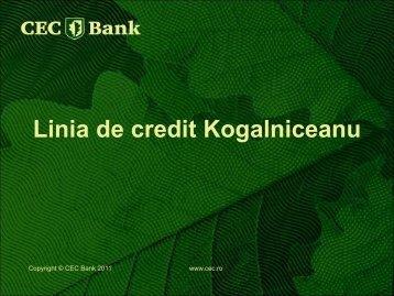 Avantajele Liniei de credit Kogalniceanu - European-microfinance.org