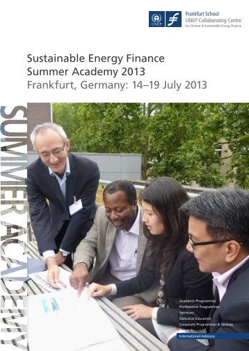 Sustainable Energy Finance Summer Academy - Frankfurt School of ...