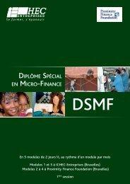 DIPLÔME SPÉCIAL EN MICRO-FINANCE - Réseau Européen de la ...