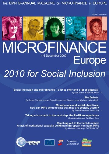 December 2009 - 2010 for Social Inclusion - European-microfinance ...