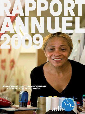 Rapport d'Activité de l'Adie 2009