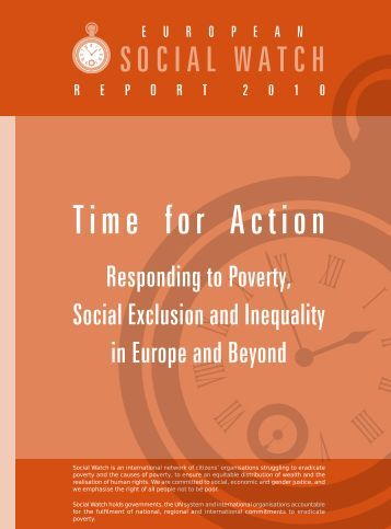 social exclusion and poverty This paper is one of the first attempts in japan to define and measure the extent  of poverty and social exclusion in the country it makes use of.