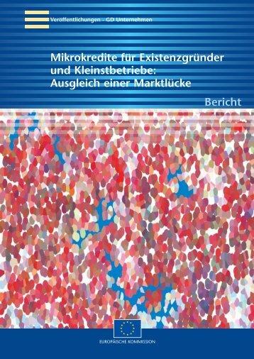 GD Unternehmen Mikrokredite Für - European Commission - Europa