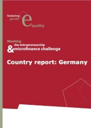 Gender Equality National Report Germany - Evers und Jung