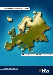 Microfinance in Germany and Europe - Evers und Jung