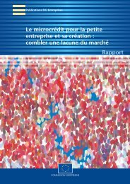 combler une lacune du marché - Réseau Européen de la Microfinance